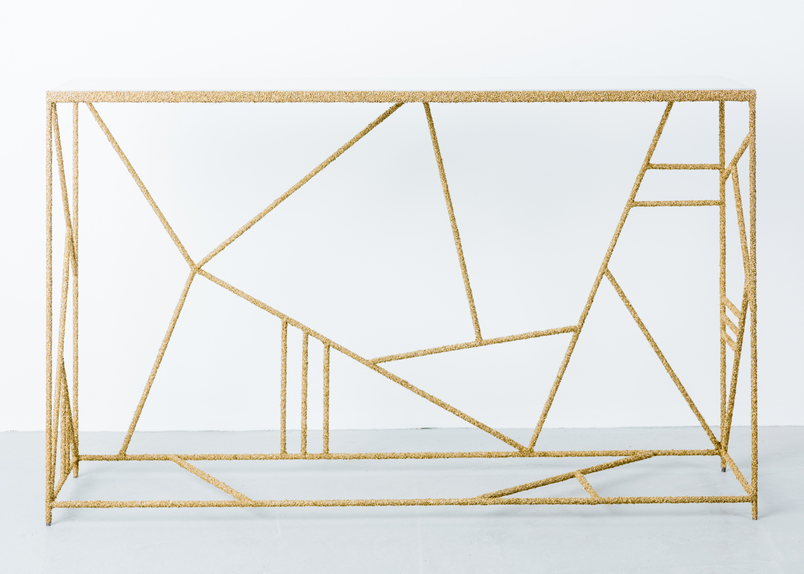Brass shaving furniture by Samuel Amoia