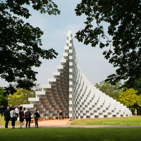 "Bjarke Ingels' Serpentine Gallery Pavilion is ""mountainous outside and cavernous inside"""