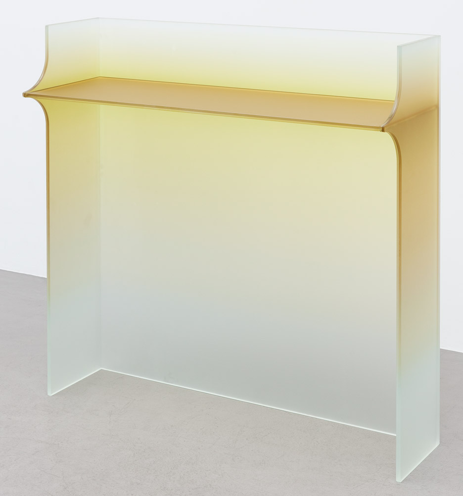 Germans Ermičs creates coloured glass furniture collection