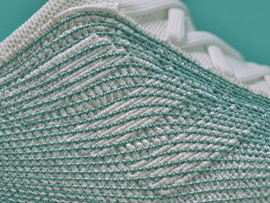 bbcd11c169fc Adidas and Parley for the Ocean design ocean plastic trainers.