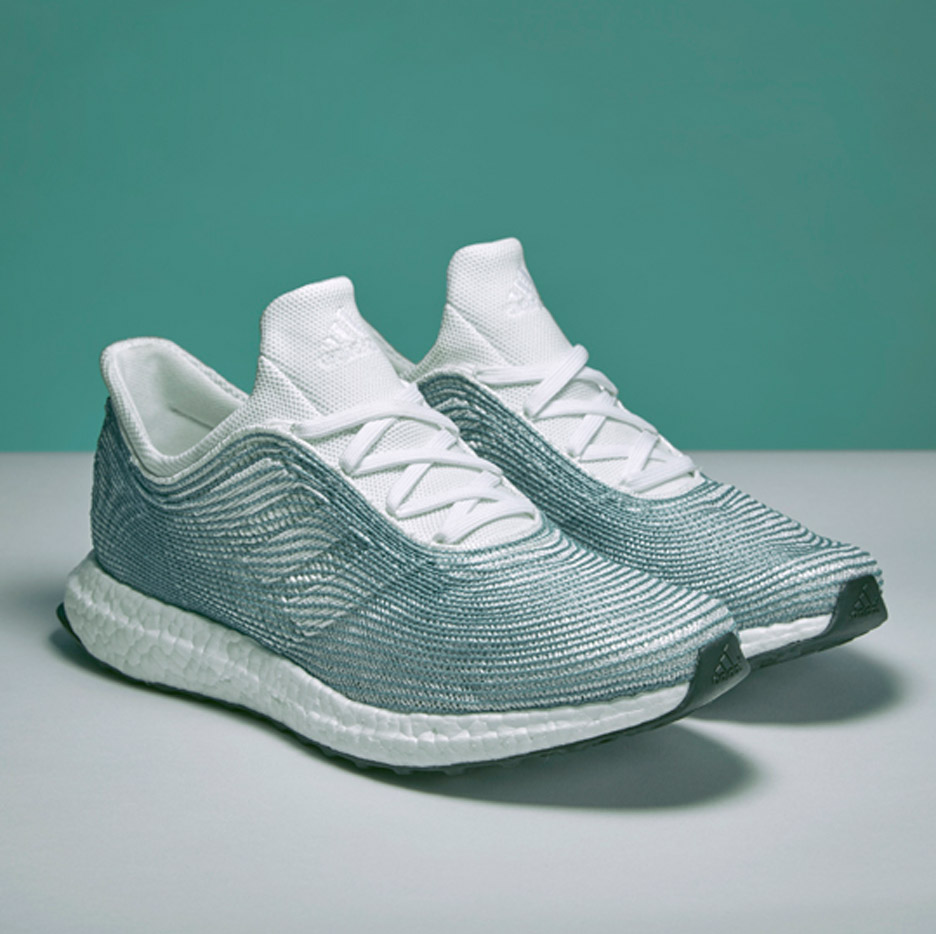 Adidas and Parley for the Ocean design ocean plastic trainers