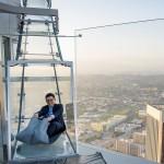 Glass Skyslide opens at the top of LA's tallest skyscraper