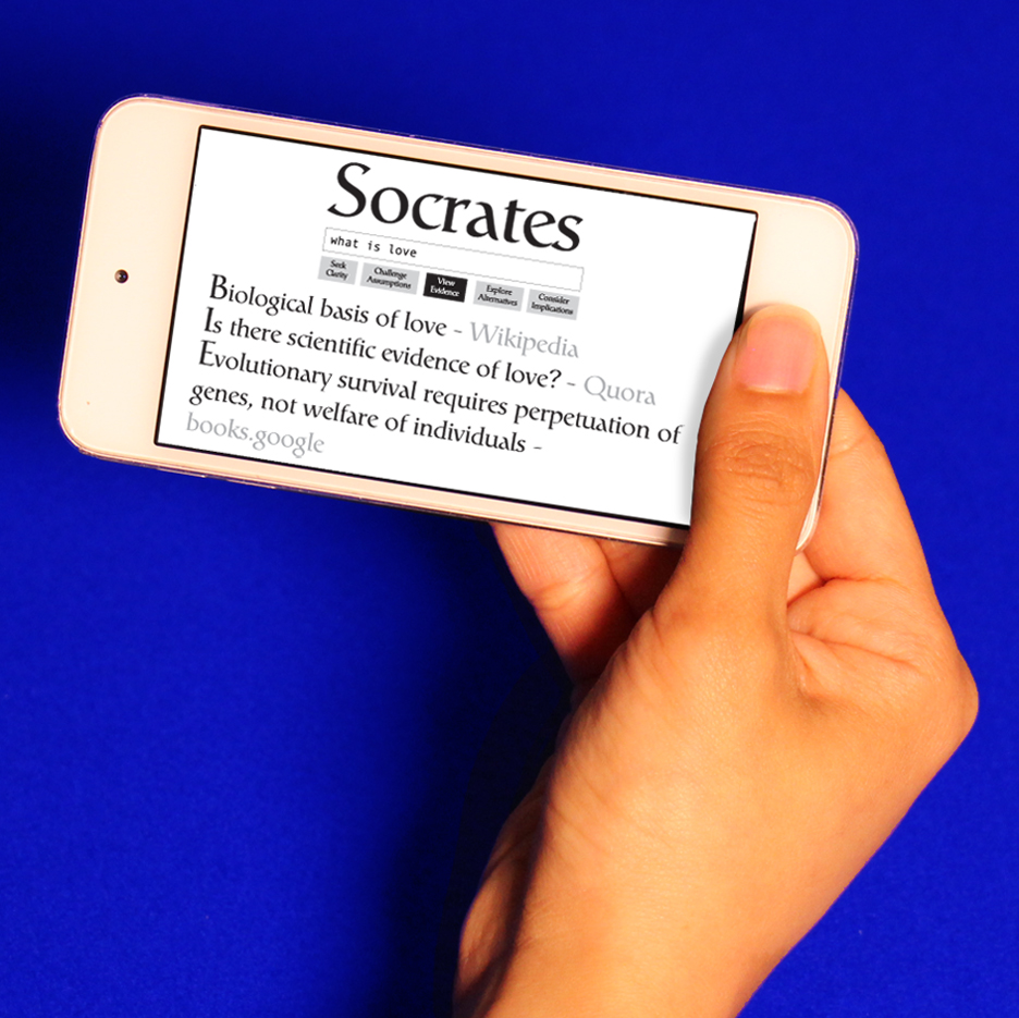 Ted Hunt's Socratic Search invites Google users to question their assumptions