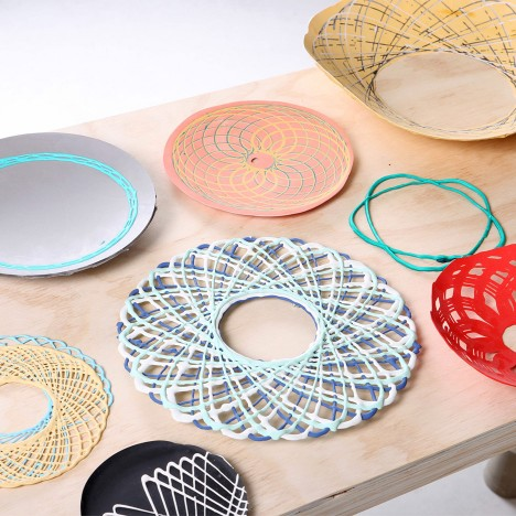 Shawn Yang uses giant Spirograph to make home accessories