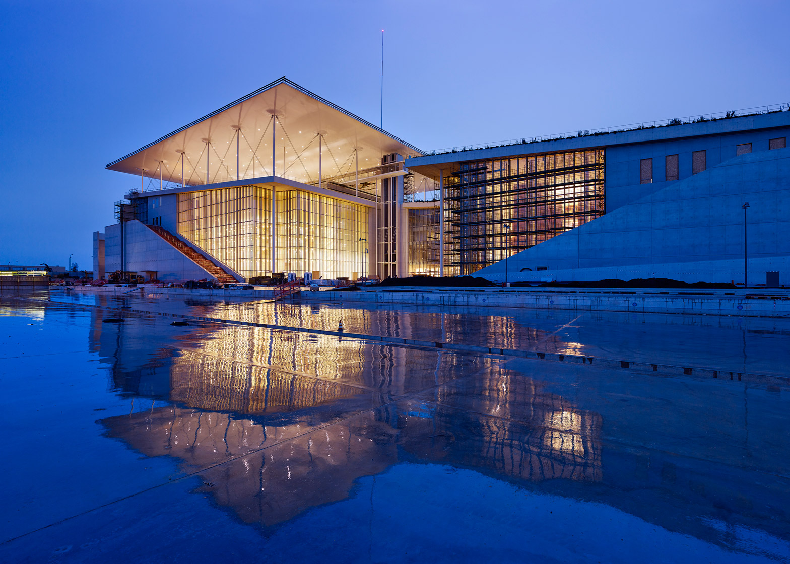 Stavros Niarchos Foundation Cultural Centre designed by Renzo Piano for Athens