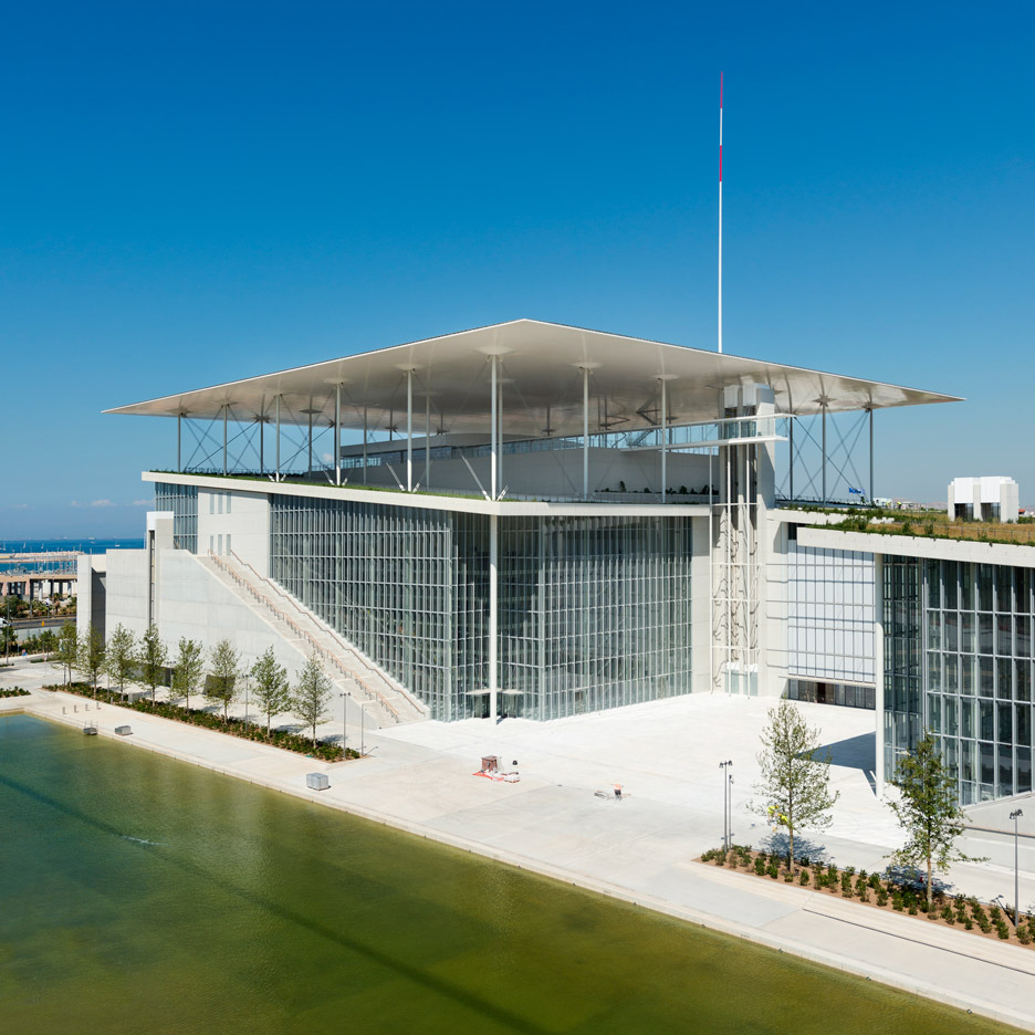 Renzo Piano completes Stavros Niarchos Foundation Cultural Center on a huge artificial hill architecture Dezeen