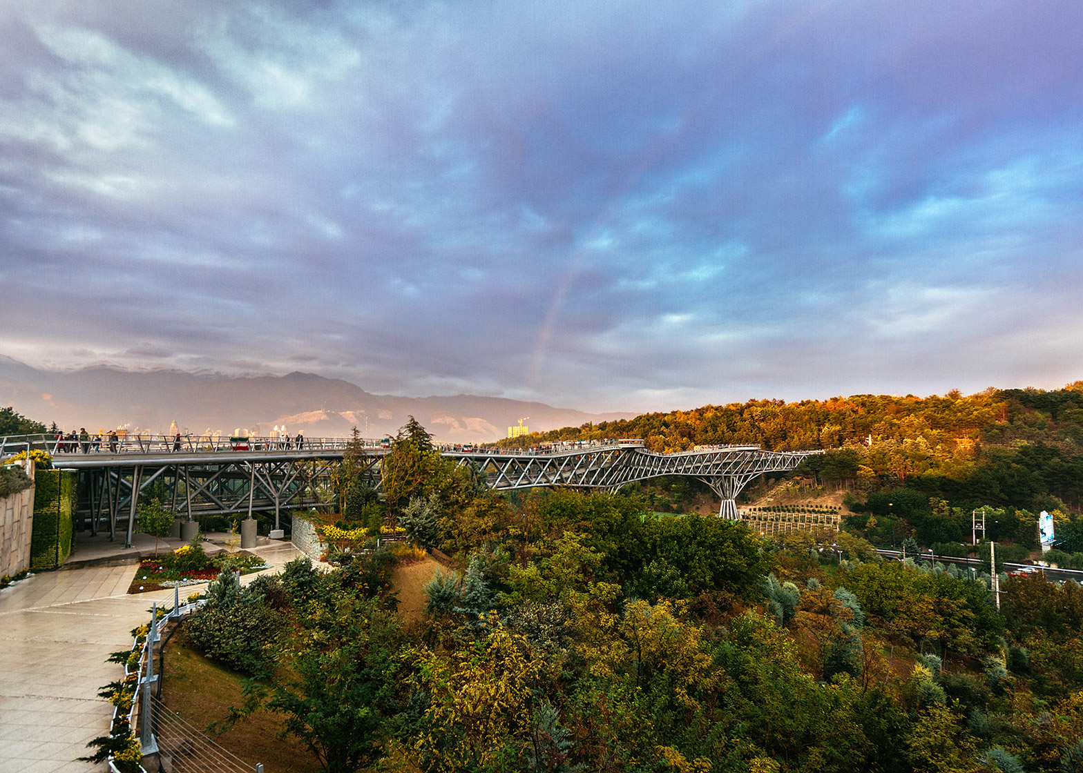 The Tabiat Bridge, Tehran by Leila Araghian