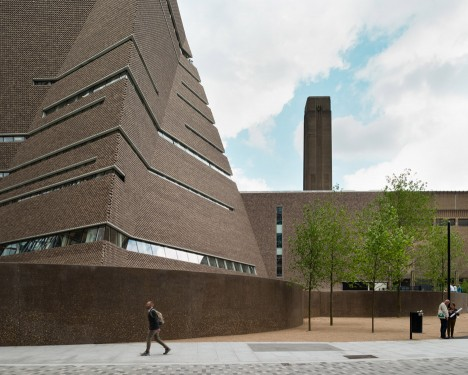 Tate modern releases movie showing construction of herzog for Switch house tate modern architecture