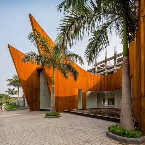 Sanjay Puri uses weathering steel to create layered facade for The Crescent office block