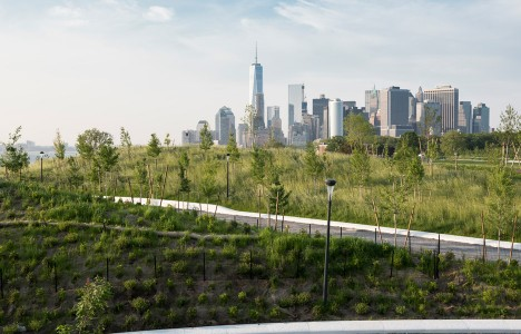 West 8 creates artificial hills on New York's Governors Island