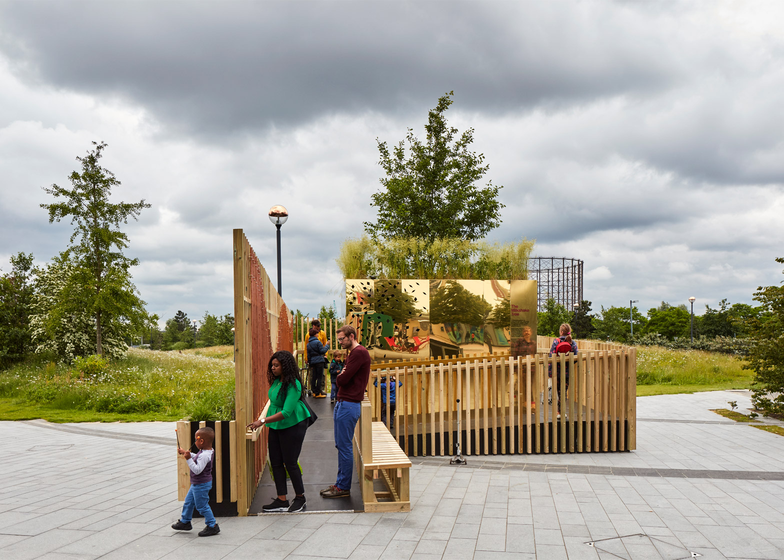 giant xylophone at the london festival of architecture 2016