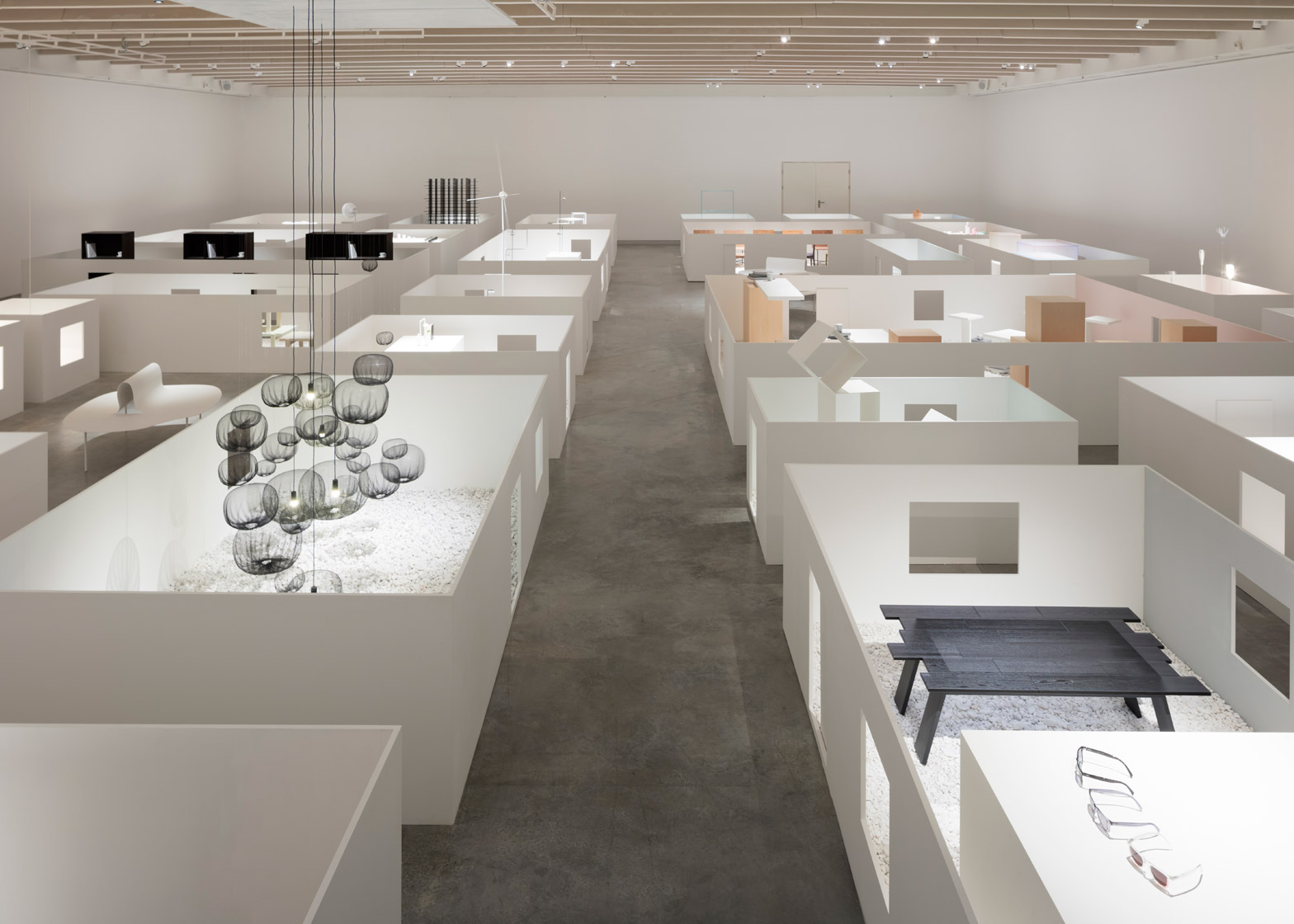 The Space Inbetween Nendo retrospective exhibition at the Museum Holon in Israel. Photograph by Takumi Ota