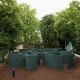 Pezo von Ellrichshausen creates labyrinthine pavilion of overlapping cylinders