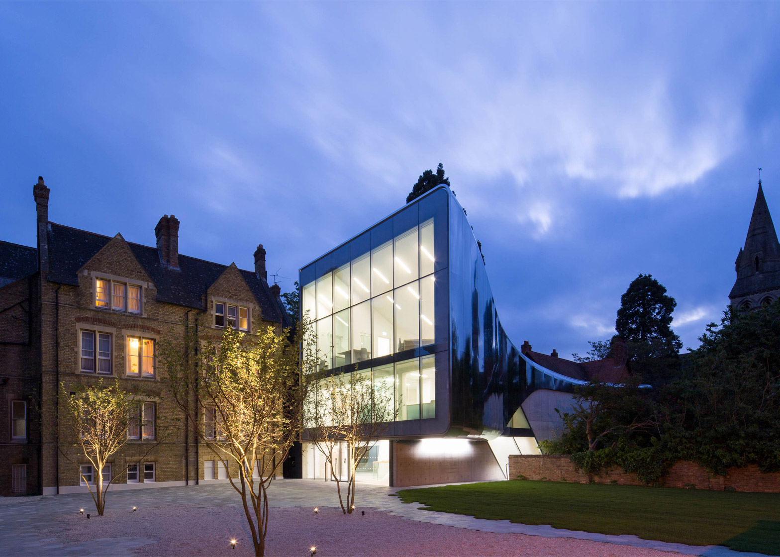 Investcorp Building for Oxford University's Middle East Centre at St Antony's College, Oxford, United Kingdom, by Zaha Hadid Architects