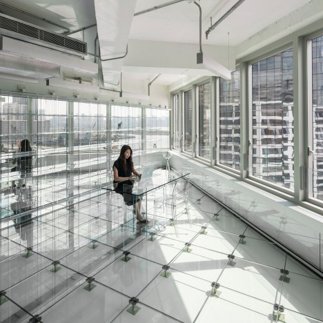 MVRDV creates transparent interior for Hong Kong office block
