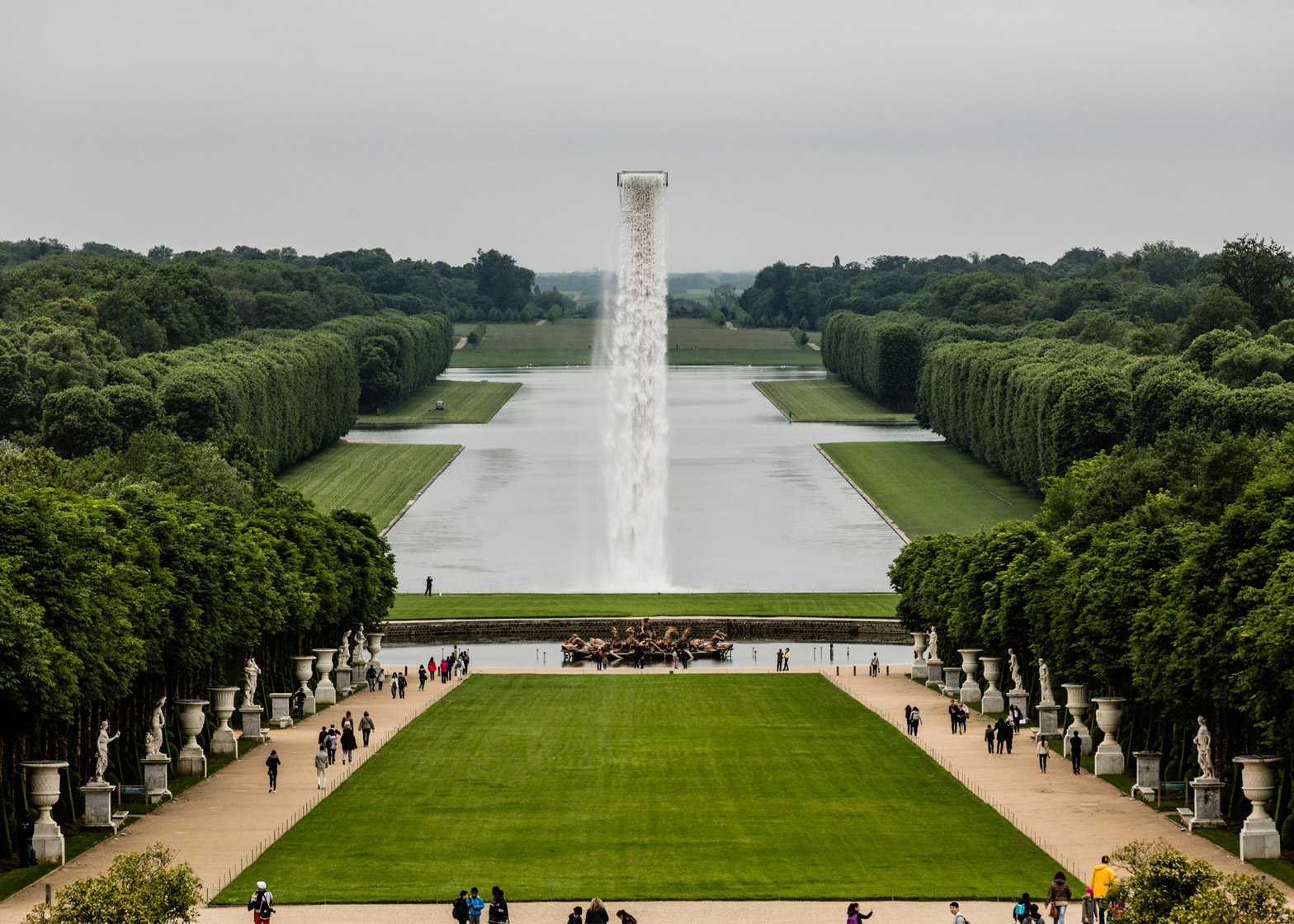 Waterfall by Olafur Eliasson at the Palace of Versailles, France