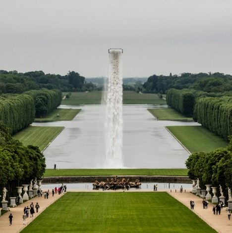 Olafur Eliasson installs giant waterfall at Palace of Versailles