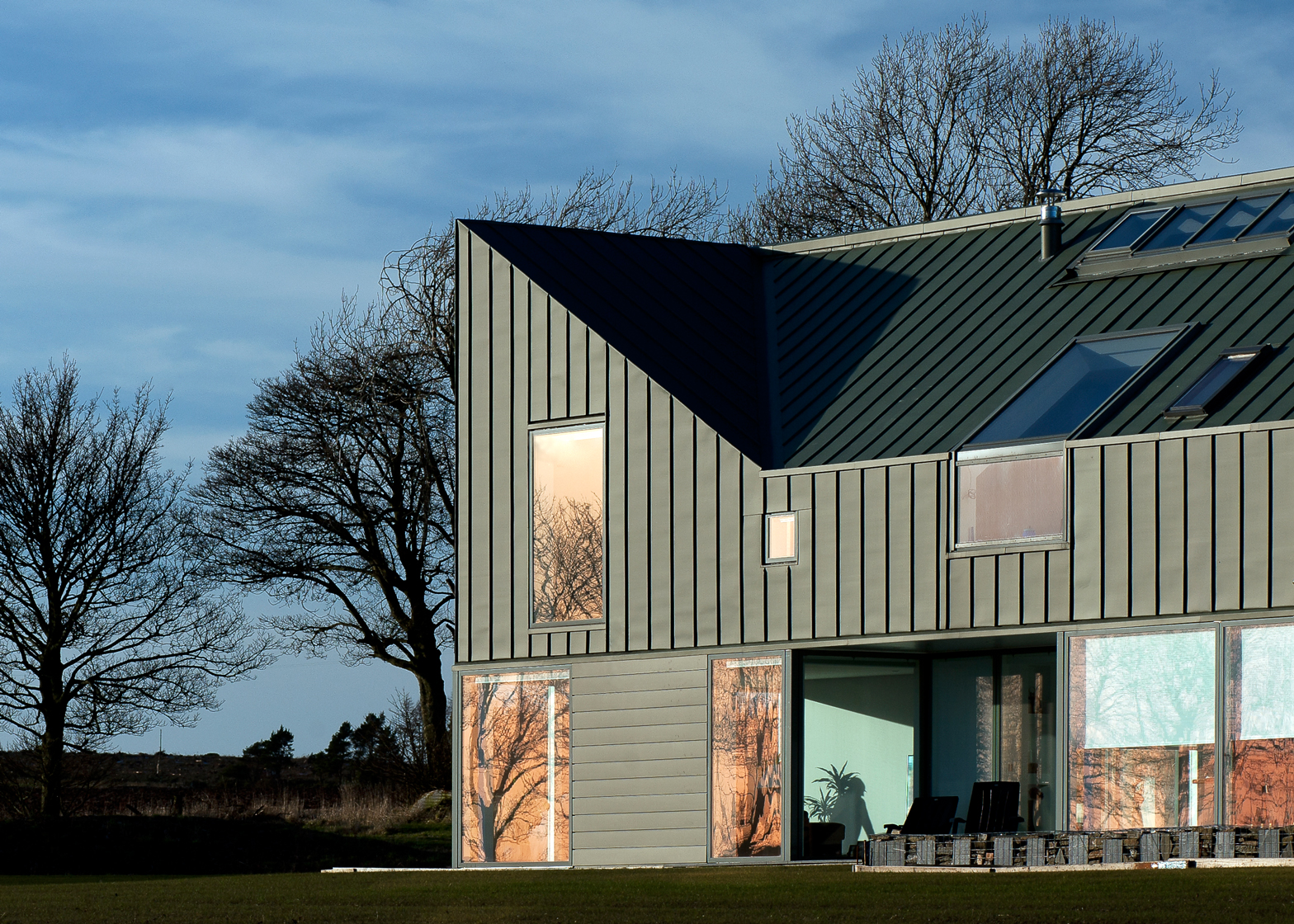 Zinc-House; near Monikie, Angus, Scotland, byLJR+H Chartered Architects