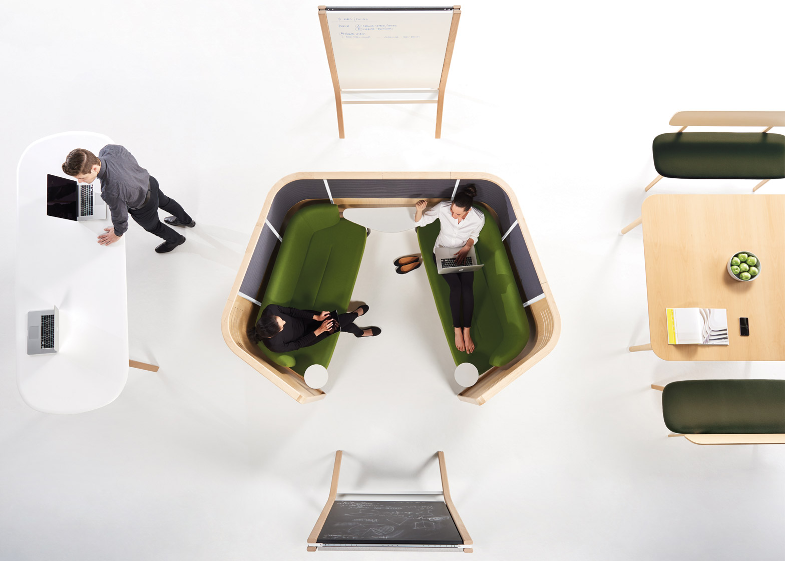 Zones Furniture by PersonLloyd, office furniture design for Teknion