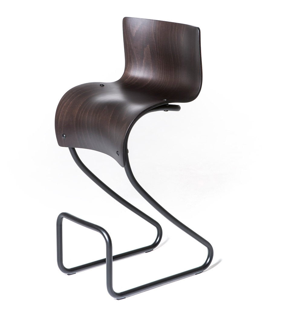 One Skin bar stool by Moroso and Ron Arad