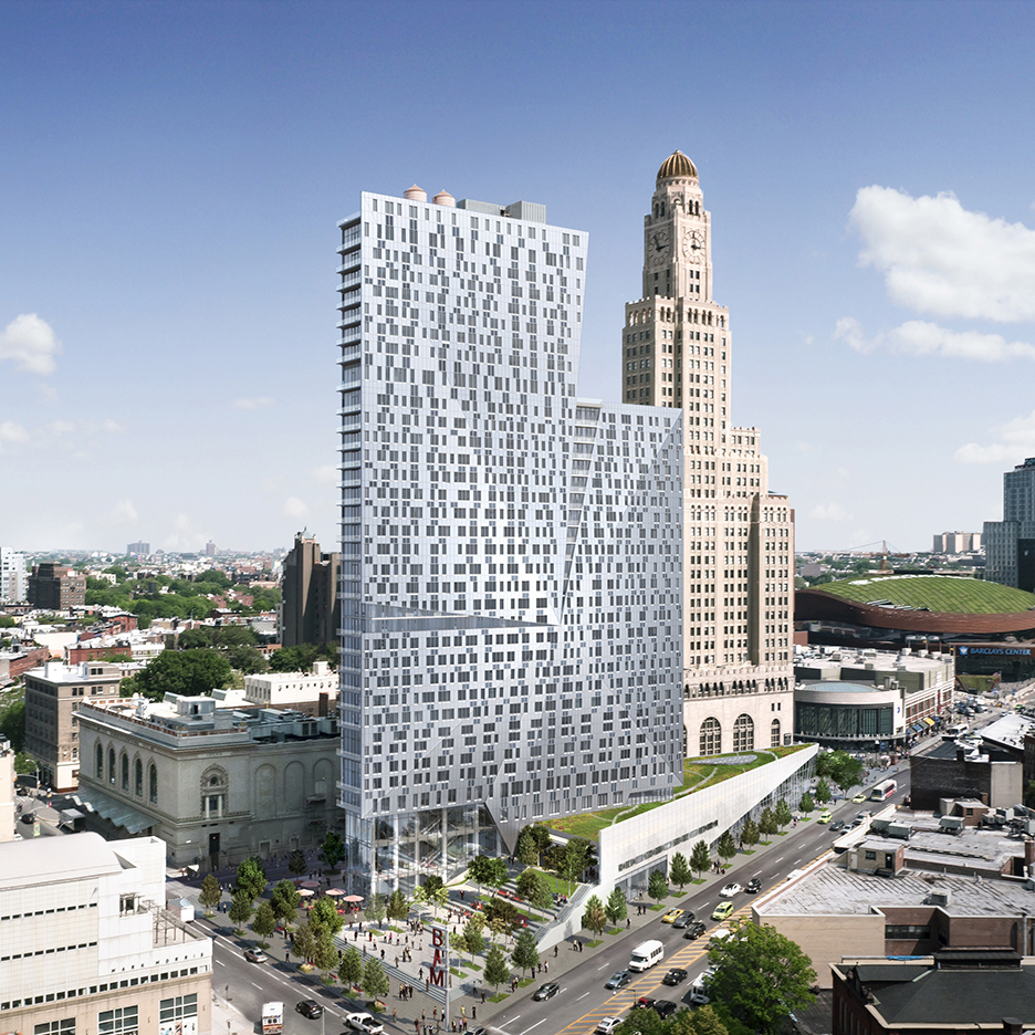 Brooklyn apartment tower by Enrique Norten nears completion