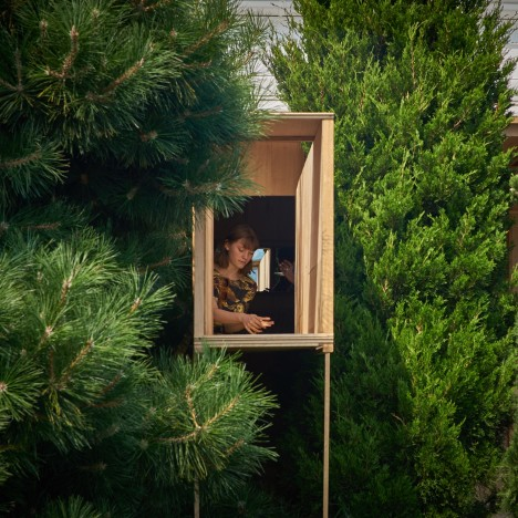 Partners Hill hides Aesop pop-up among the undergrowth at Tasmanian music festival