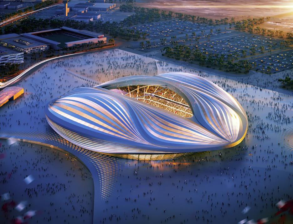 Al Wakrah stadium by Zaha Hadid Architects