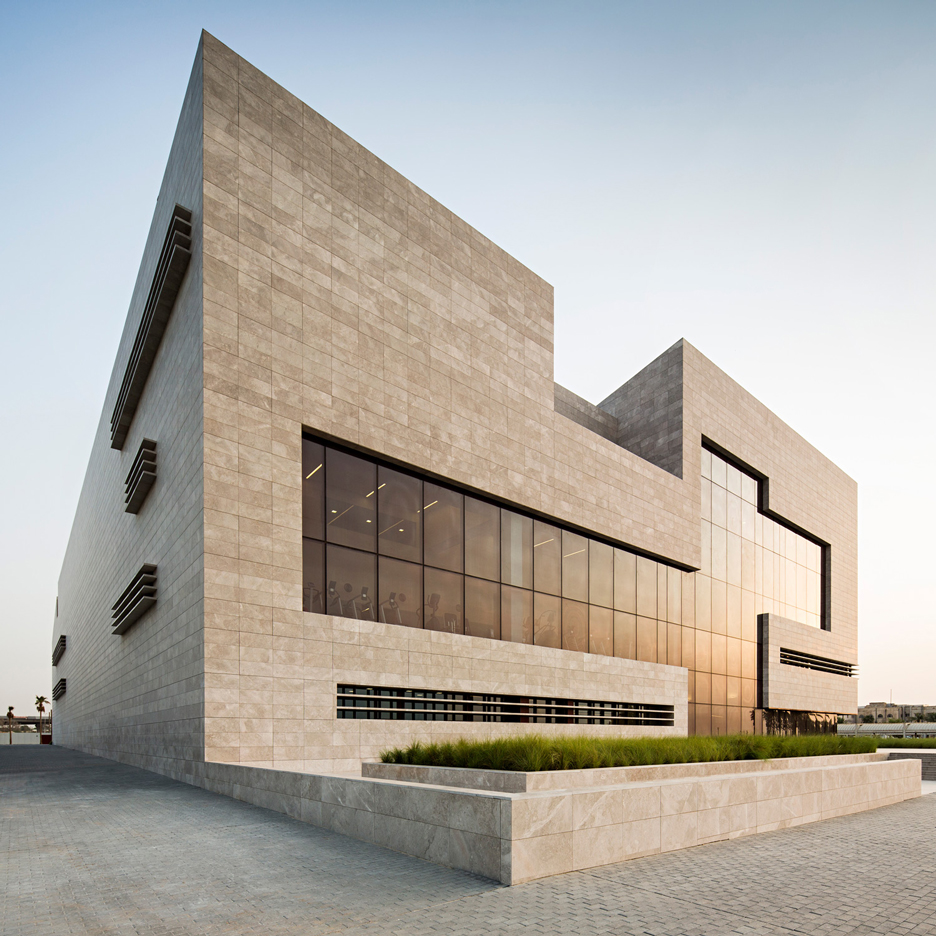 Cardiac centre in Kuwait by AGi Architects is designed with an atrium to represent the building's heart