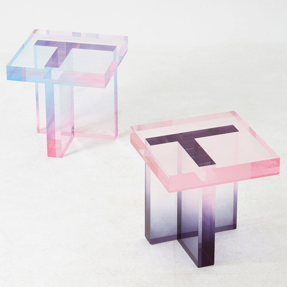 Crystal Series Table by Saerom Yoon