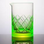 Martin Jakobsen's uranium glassware glows bright green