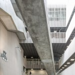KRONA centre by Mecanoo and Code features zigzagging concrete staircases
