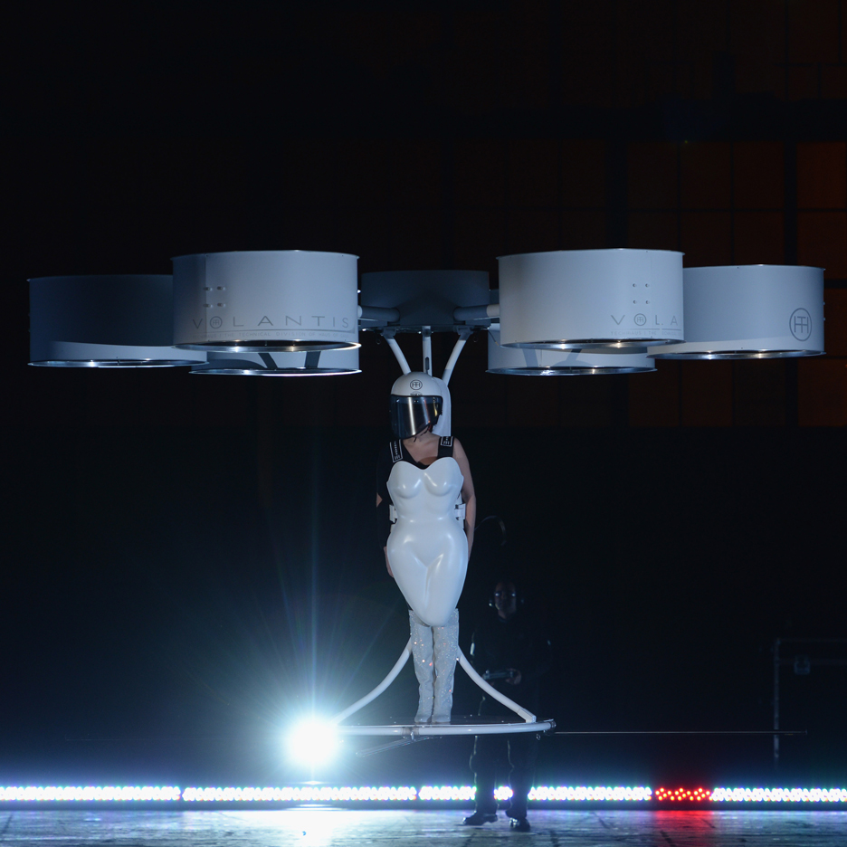 "Lady Gaga ""First flying dress"" by Lady Gaga, Studio XO and TechHaus,"