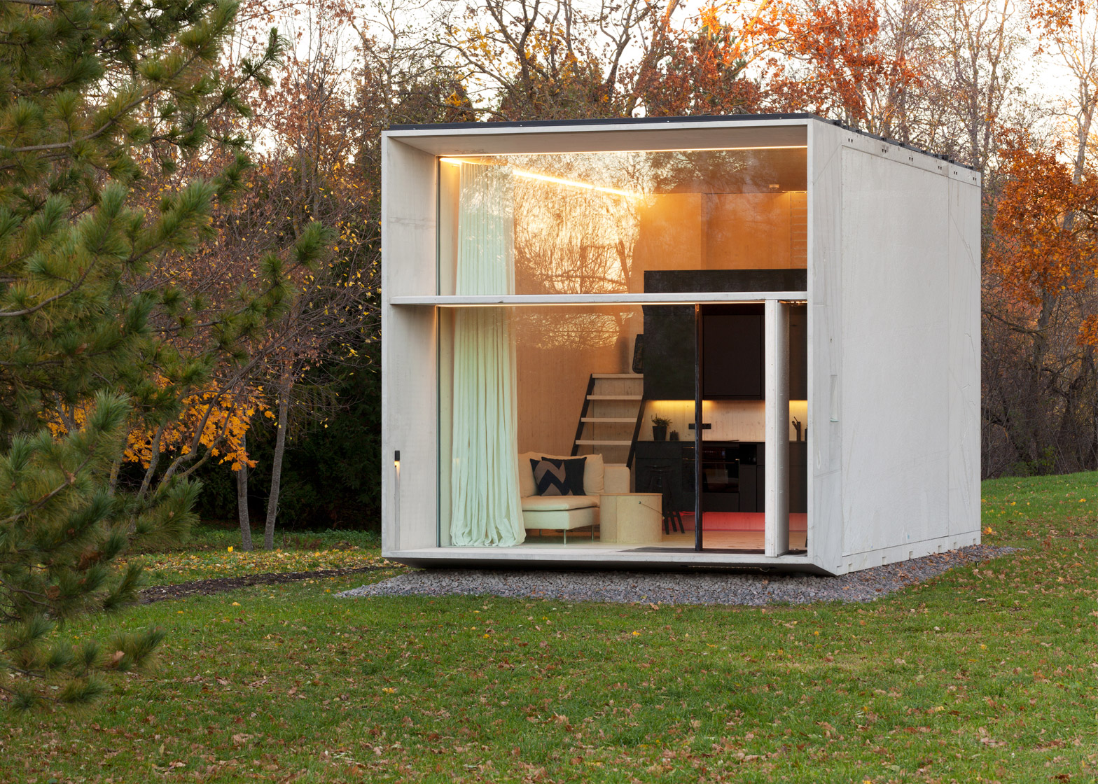 Sensational Kodasema Creates Tiny Prefab House That Moves With Its Owners Largest Home Design Picture Inspirations Pitcheantrous