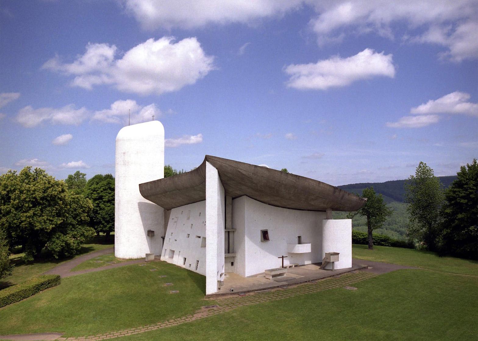 Notre Dame du Haut chapel, Ronchamp, France, 1950 - 1955