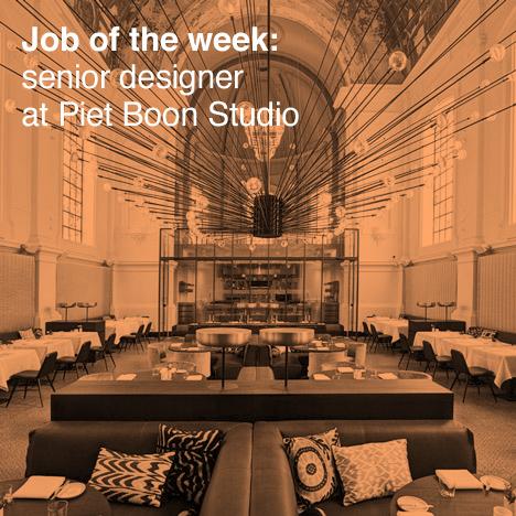 Job of the week senior designer at piet boon studio sig for Senior designer jobs