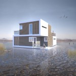 Conceptual home for couples designed to split into two halves after divorce