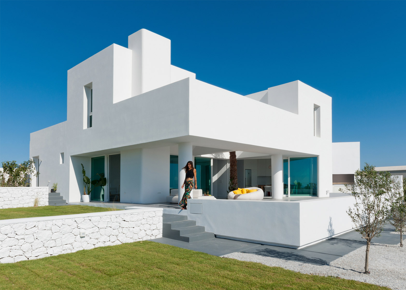 House Architects santorini housekapsimalis architects made of white blocks