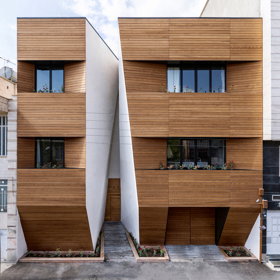 Afsharian S House By Rena Design Has A Huge Vertical Slice In Its Facade