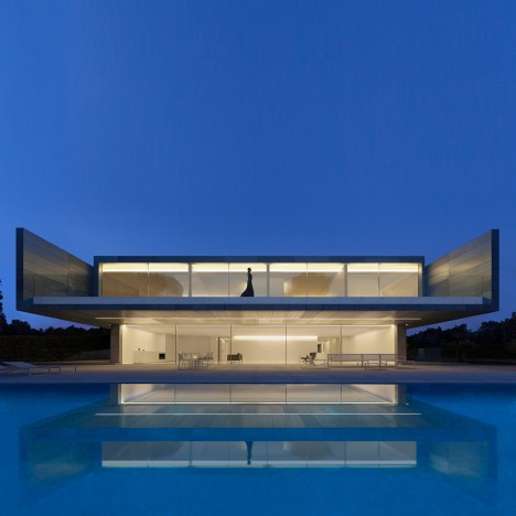 Aluminium House by Fran Silvestre Arquitectos features a grand roof terrace and swimming pool