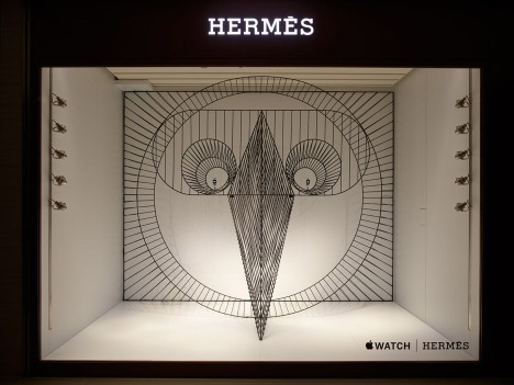 GamFratesi designs animalistic Apple Watch window display for Hermés
