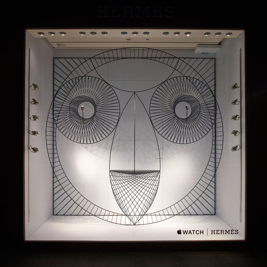 GamFratesi designs animalistic Apple Watch window display for Hermès