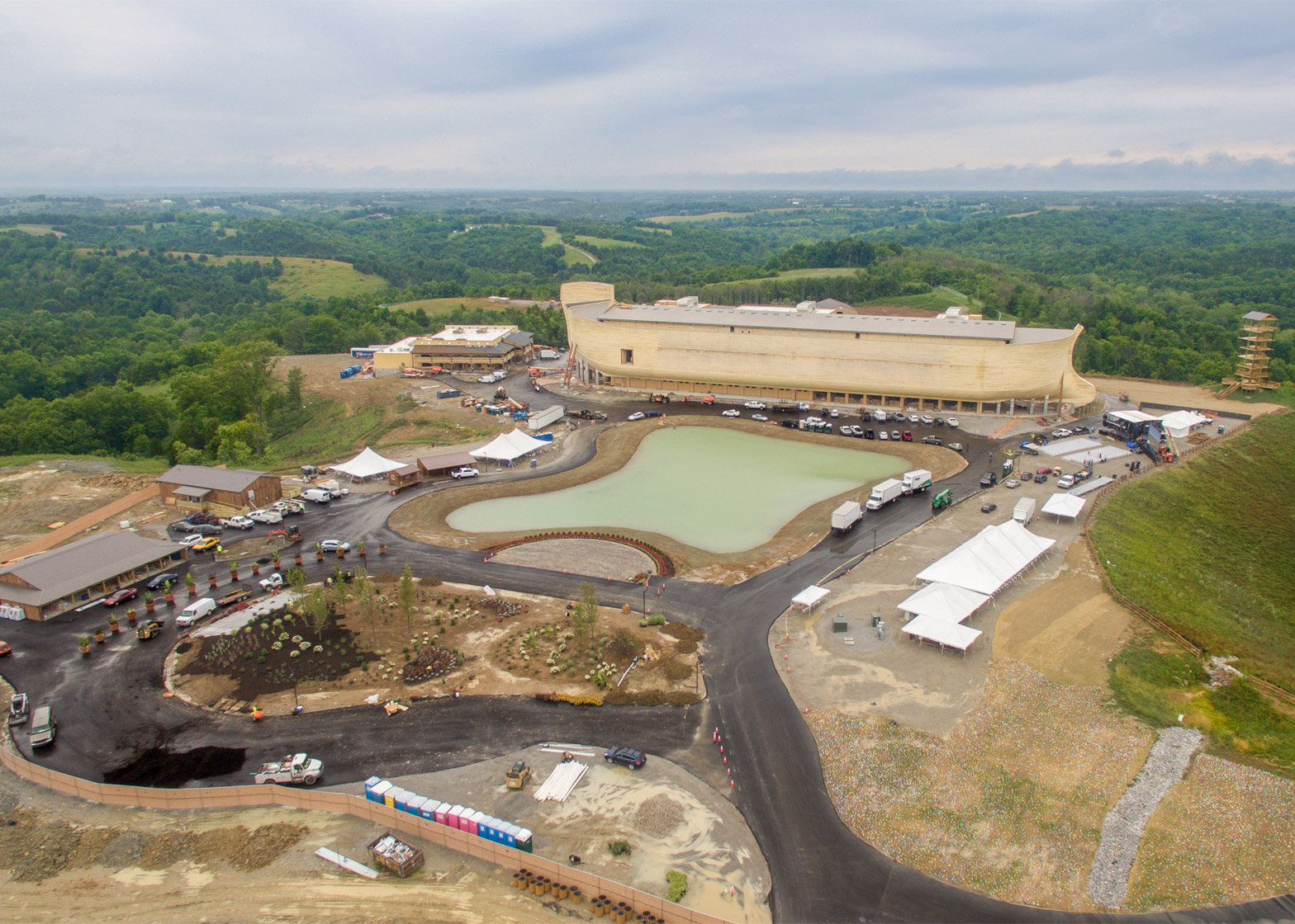 Troyer Group opens Noah's Ark theme park in Kentucky as flash floods hit the state