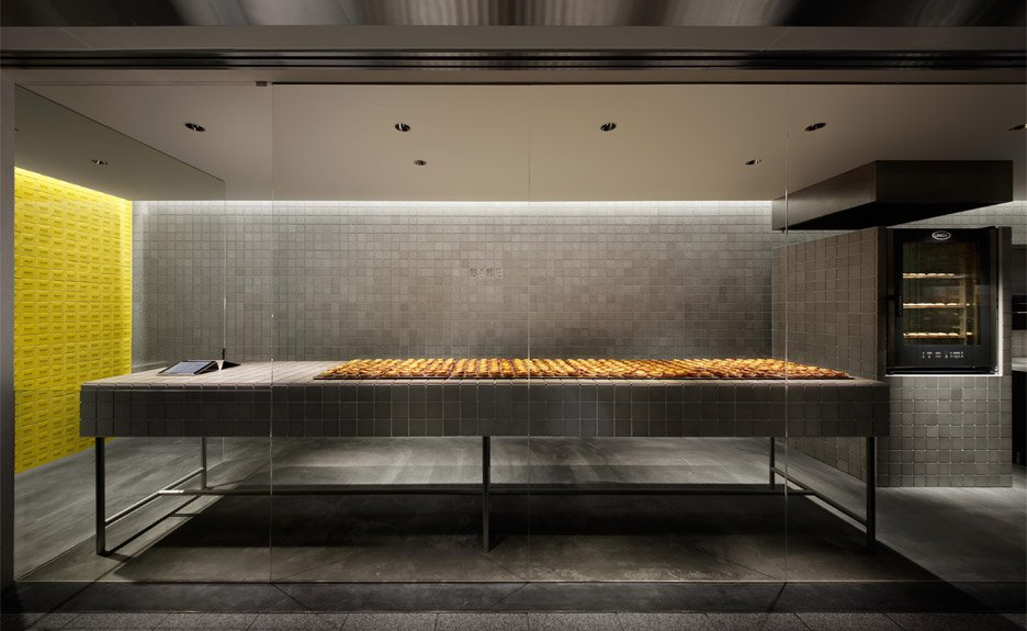 BAKE, a cheese tart shop in Japan by Kakuda
