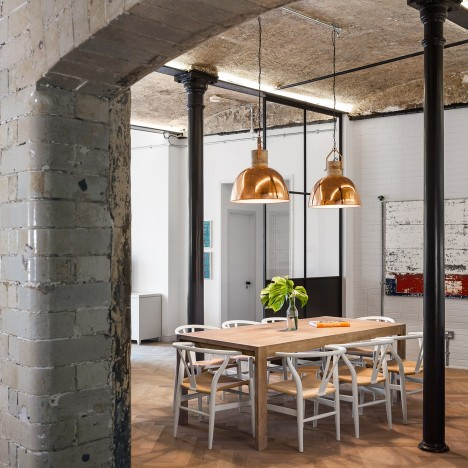 Jo Cowen Architects transforms Victorian bakery in London into 12 factory-inspired homes
