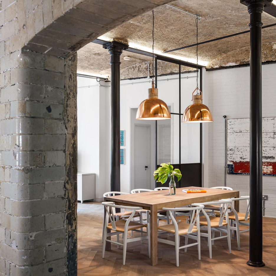 jo cowen architects transforms victorian bakery in london into 12 factory inspired homes