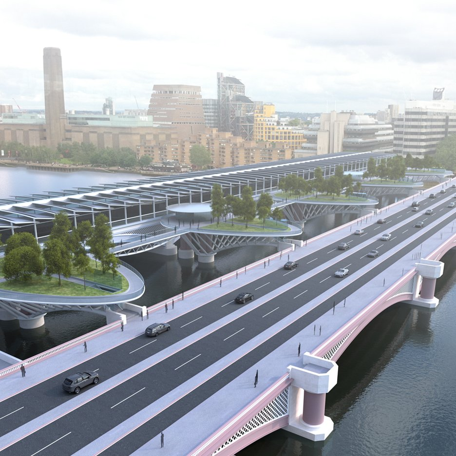 "Latest Garden Bridge alternative features four leaf-shaped ""stepping stones"""