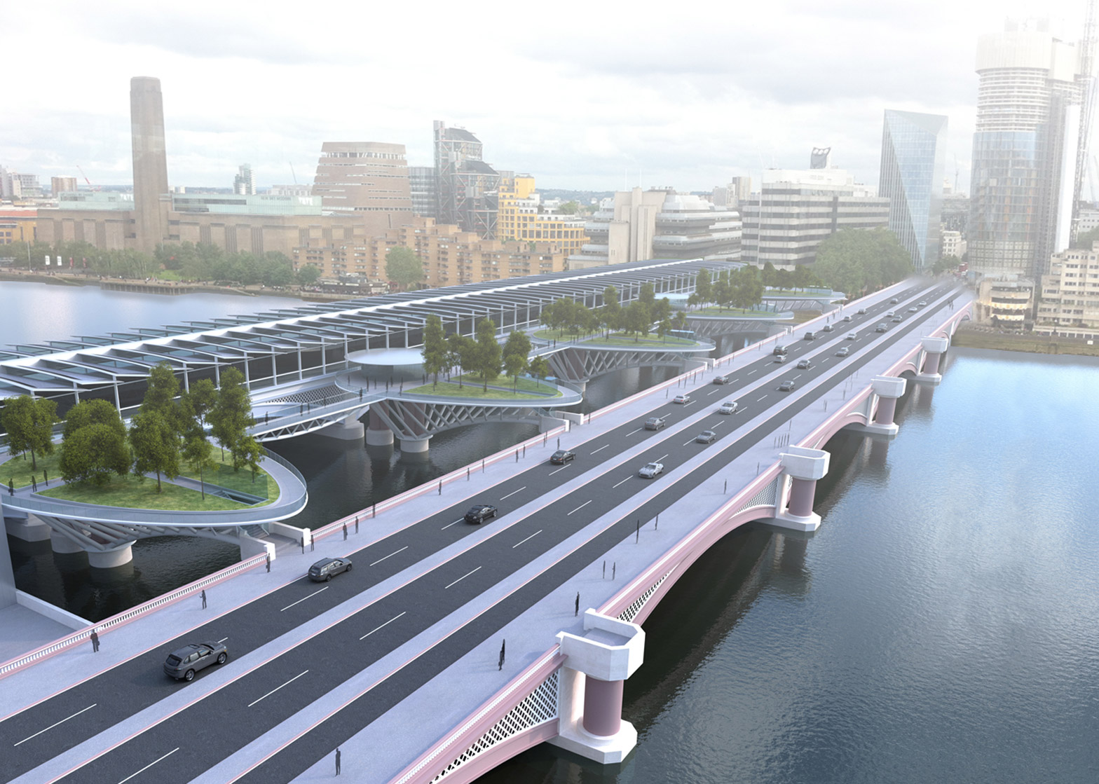 Crispin Wride unveils an alternative proposal for a garden bridge at Blackfriars, including a series of garden islands