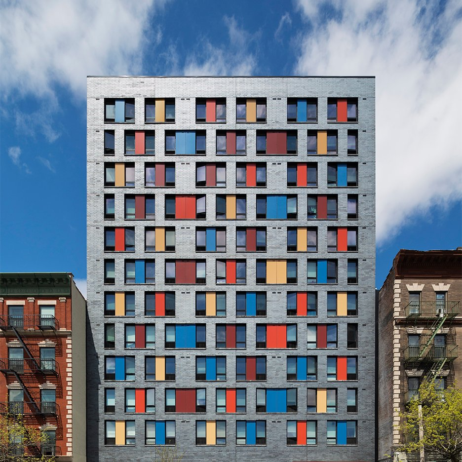 Alexander gorlin creates colourful affordable housing for for Cost of building a multi family house