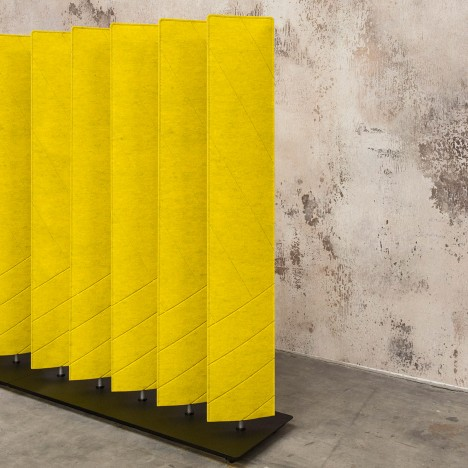 Alain Gilles Designs Felt Buzziblinds To Shield Workers