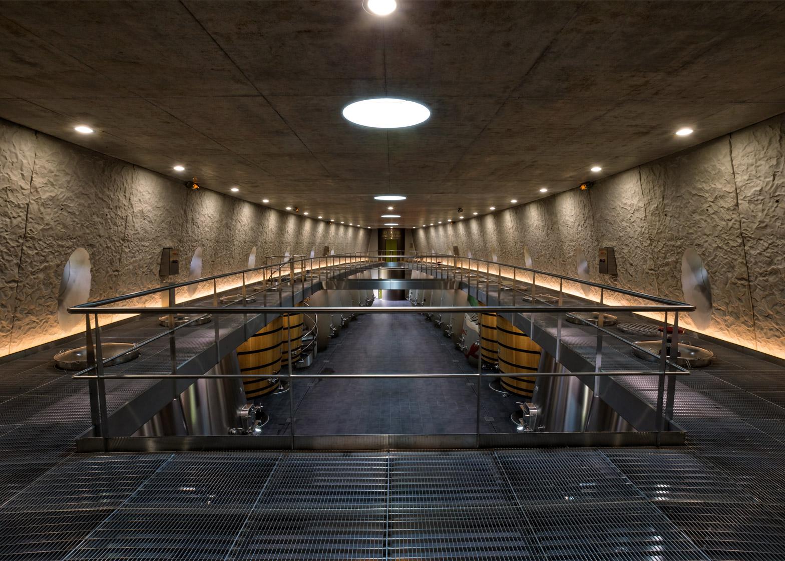 Château les Carmes Haut-Brion cellar by Philippe Starck